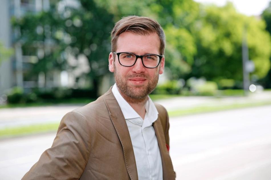 Richard Kaniewski (30), Vorsitzender der SPD Dresden fordert mehr Haltung gegen PEGIDA.