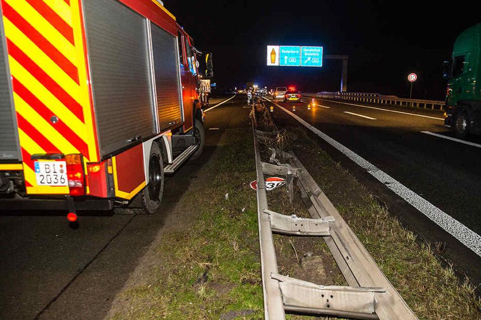 Das Autobahnkreuz wurde zeitweise einspurig gesperrt.