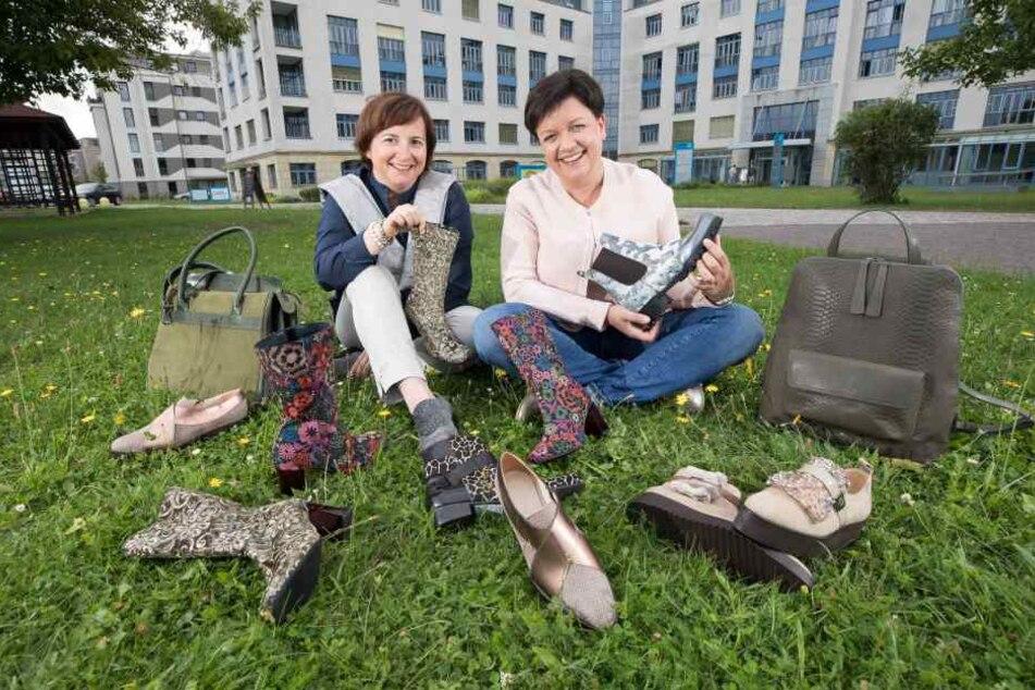 Lieben ihre Schuhe aus chromfreiem Leder leidenschaftlich: Cornelia Jahnel (46, l.) und Jeanette Scharf (41).
