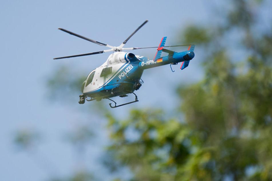 Ein Polizeihubschrauber kam zum Einsatz, um aus der Luft nach dem Elfjährigen zu suchen. (Symbolbild)