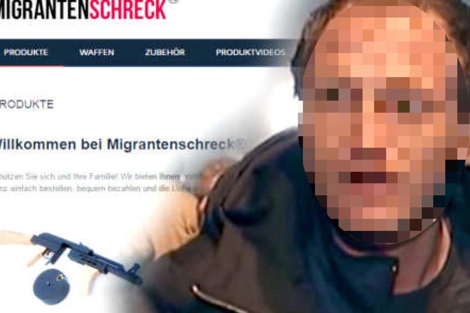 """illegaler Waffenhandel: """"Migrantenschreck""""-Chef muss in den Knast"""
