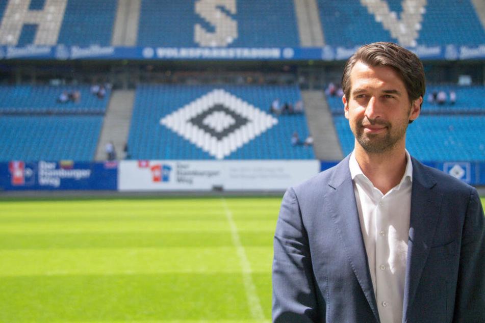 Jonas Boldt, neuer Sportvorstand beim HSV, freut sich auf das Duell mit dem VfB Stuttgart.