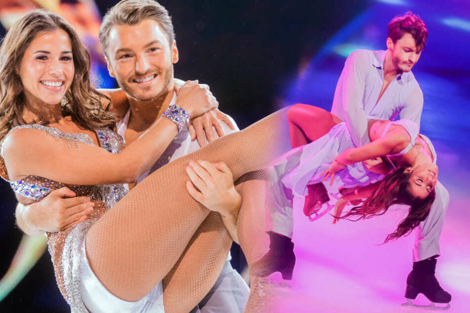 Sarah Lombardi fegt bei Dancing on Ice alle vom Eis