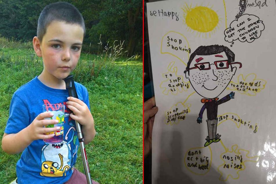 Linz' Sohn kam mit diesem Bild aus der Schule zurück.
