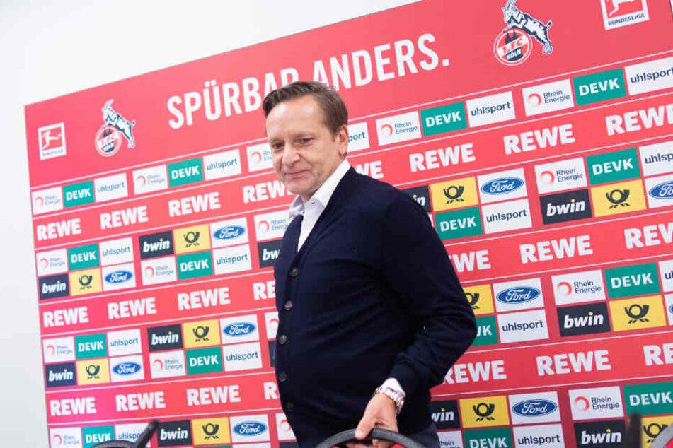 Horst Heldt bei der Vorstellung als neuer Sportchef des 1. FC Köln am Dienstag.