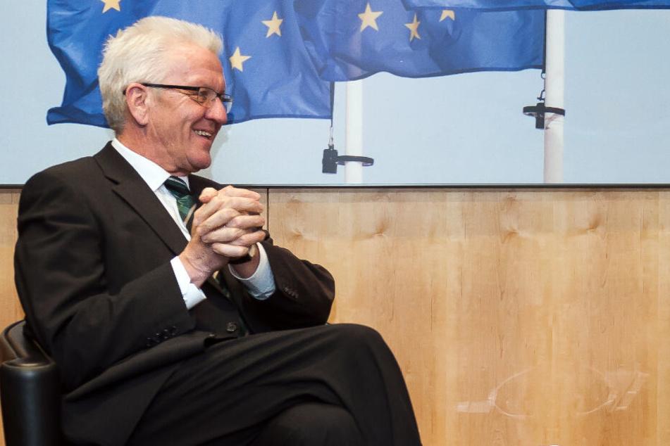Ministerpräsident Winfried Kretschmann in Brüssel.