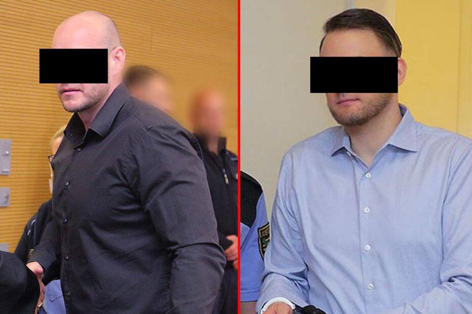 René H. (33, l.) und Christian L. (30, r.) müssen sich am Landgericht Dresden verantworten.