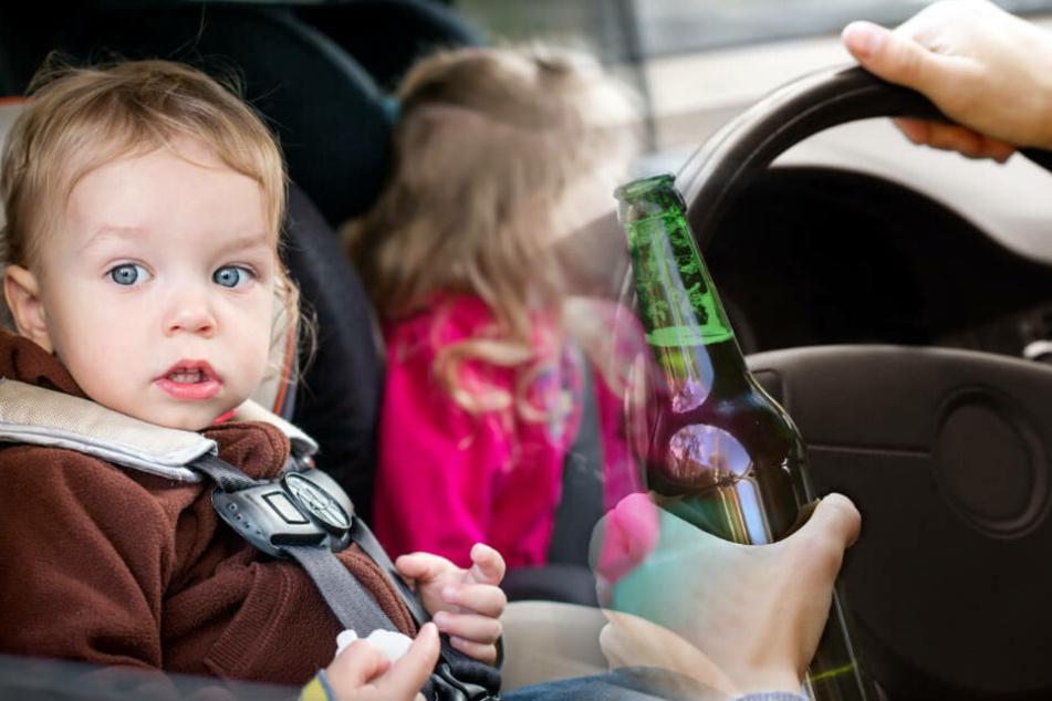 Betrunkener mit Kindern auf Autobahn: Polizei schlägt Scheibe ein