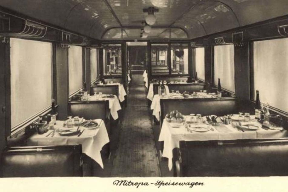So sahen die Speisewägen 1935 aus.