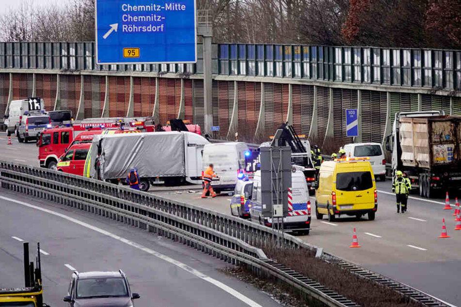 Die A4 musste kurzzeitig gesperrt werden.