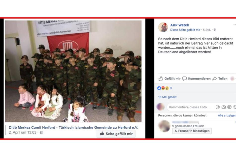 Eine militärische Aufführung von Kleinkinder in der Ditib-Moschee sorgt für Diskussion in Herford.