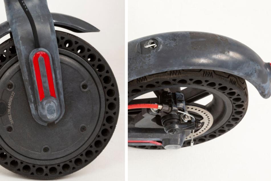 Abgebildeter E-Scooter: Detailaufnahmen zeigen das vermeintliche Fluchtmittel des mutmaßlichen Mörders.