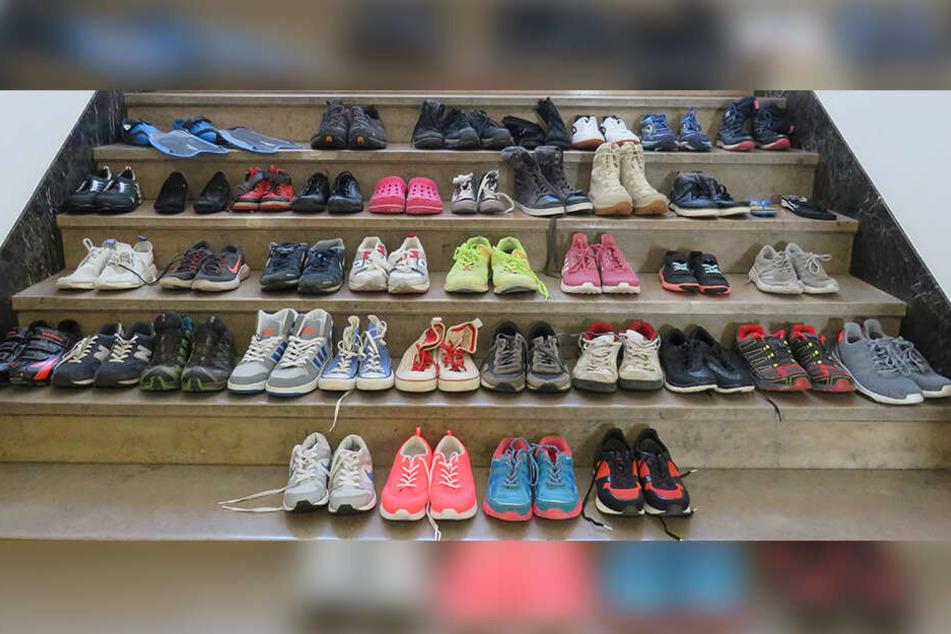 Wer erkennt seine Schuhe?