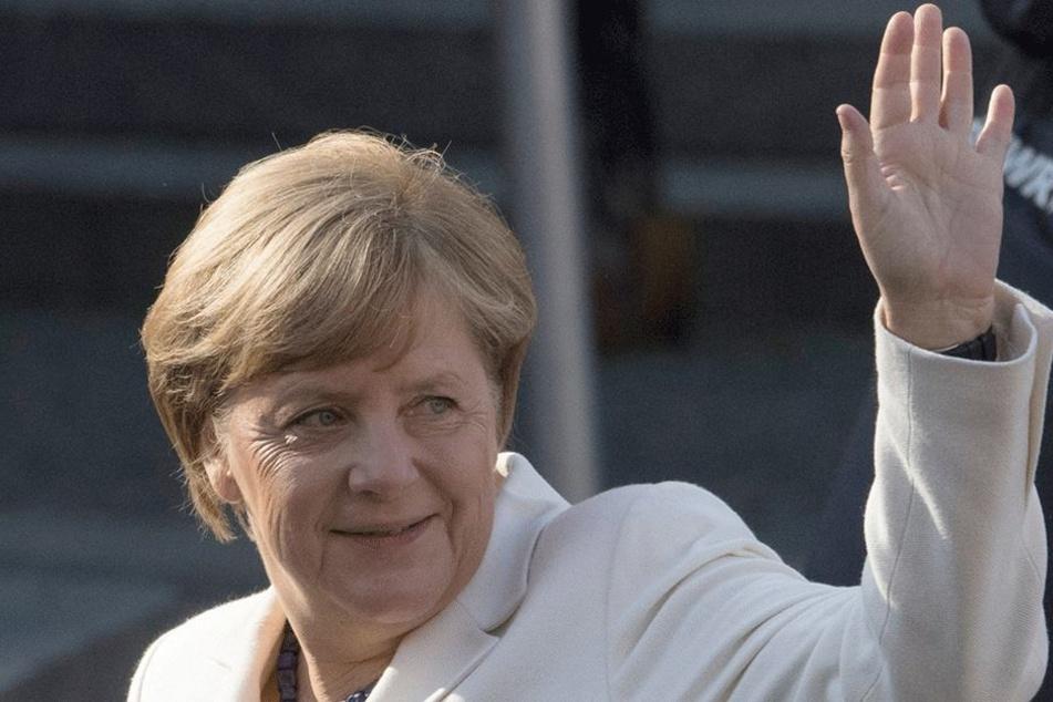 Angela Merkel (63, CDU) kommt zum Deutschlandtag der Jungen Union nach Dresden.