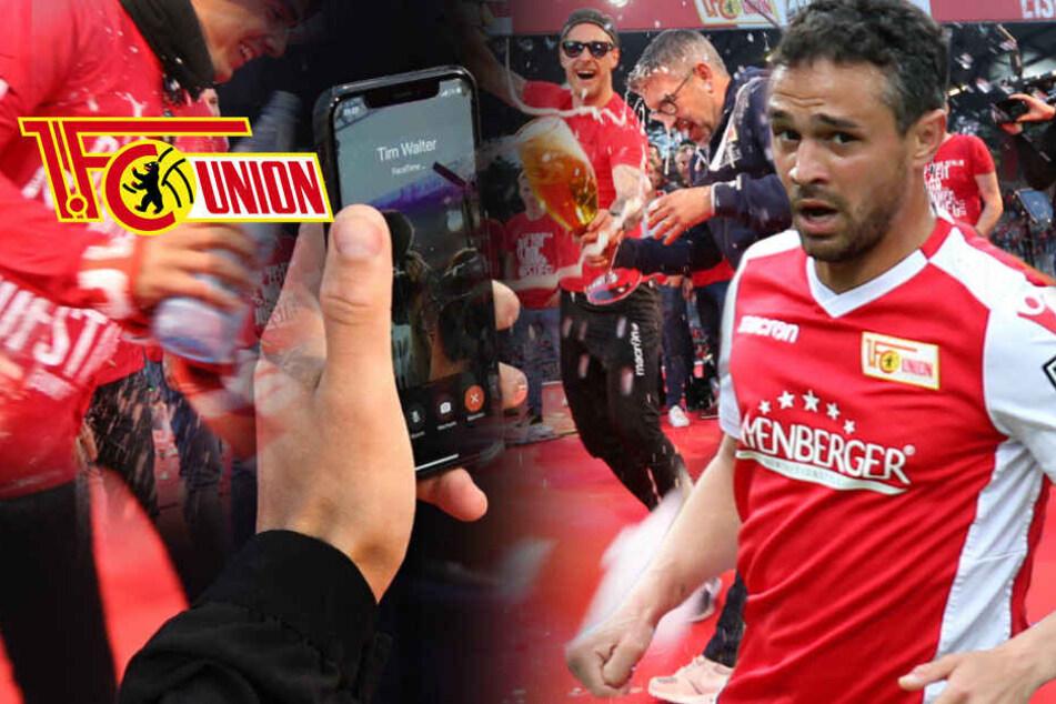 Bei Aufstiegsfeier: Union-Spieler vera***** künftigen VfB-Trainer Tim Walter