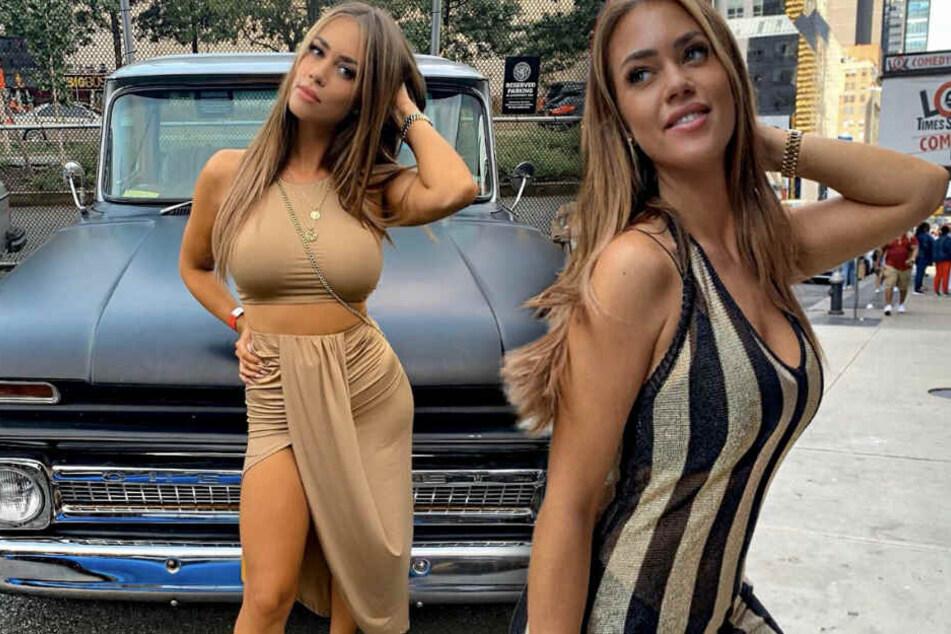 Jessica Paszka posiert sexy auf Instagram. (Bildmontage)