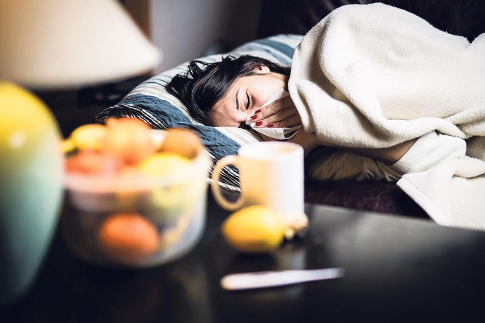 Grippe fesselt die Betroffenen gut und gern schon mal drei  Wochen ans Bett.