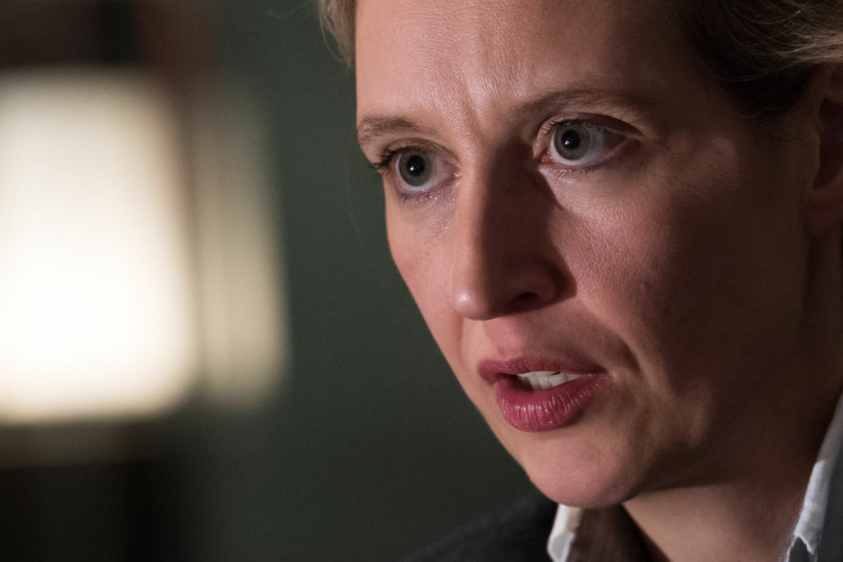 Alice Weidel, Vorsitzende der AfD-Bundestagsfraktion, sitzt bei einem Interview in einem Hotel in Berlin.
