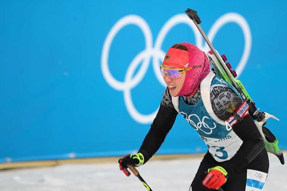 Laura Dahlmeier holt die erste Gold-Medaille fürs deutsche Team.