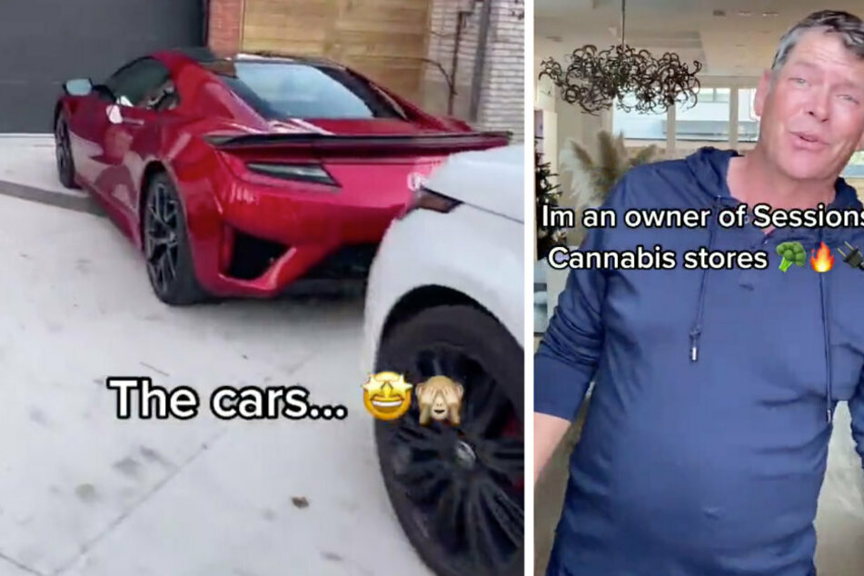The owner of this Tesla explains that he earns his money with his Sessions Cannabis stores.