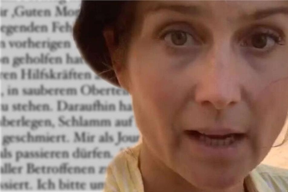 RTL-Reporterin reibt sich mit Schlamm der Flutkatastrophe ein: Das ist ihre Entschuldigung