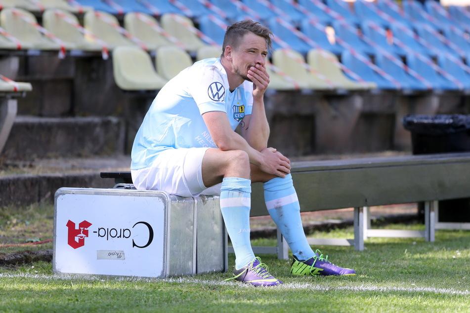 Auch Kevin Freiberger (32) war nach dem verlorenen Sachsenpokal-Finale enttäuscht. Dem CFC will er aber unbedingt die Treue halten.