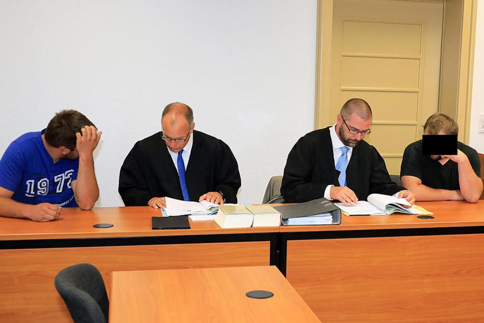 Raimondo V. und Roberto V. im Landgericht Chemnitz. (Archivfoto)
