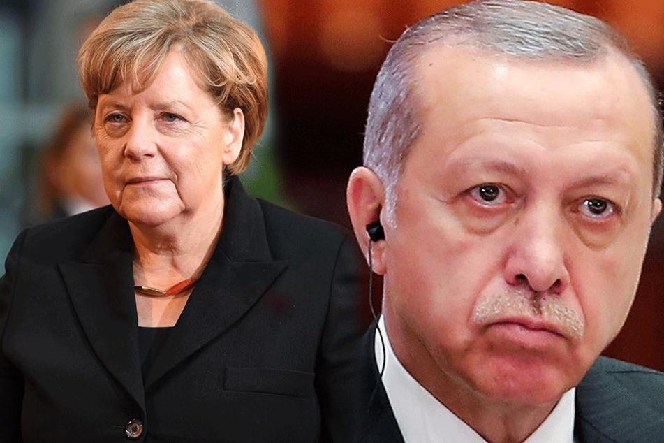 Schon länger angespannt: Die Beziehungen zwischen Angela Merkel (62, CDU) und Recep Tayyip Erdogan (63, AKP).