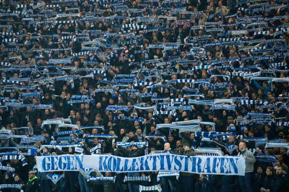 Hertha-Fans reagierten mit einem Stimmungsboykott.