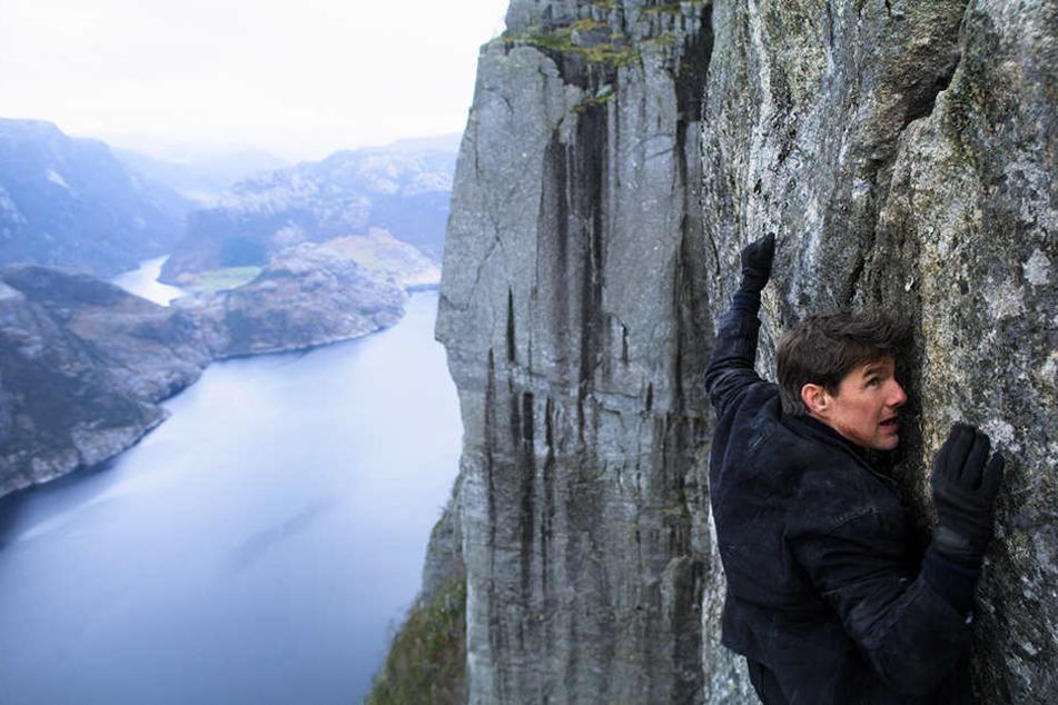 "Drehte die Stunts für den besten Blockbuster des Jahres 2018 selbst: Tom Cruise als IMF-Agent Ethan Hunt in ""MIssion Impossible: Fallout""."