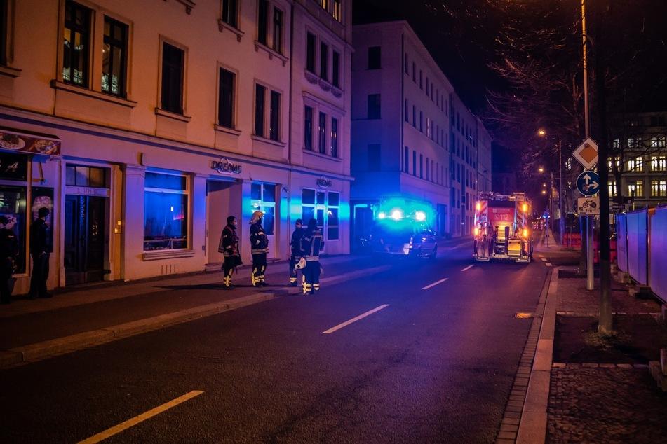 Die Nürnberger Straße im Leipziger Zentrum-Ost musste in der Nacht zum Mittwoch abgesperrt werden.