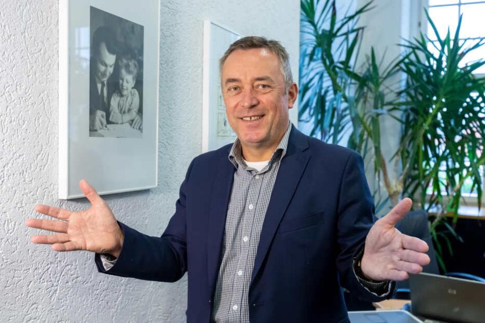 Oberbürgermeister Ralf Oberdorfer (59, FDP) freut sich auf den Stadtumbau mit 50 Millionen Euro zusätzlich.