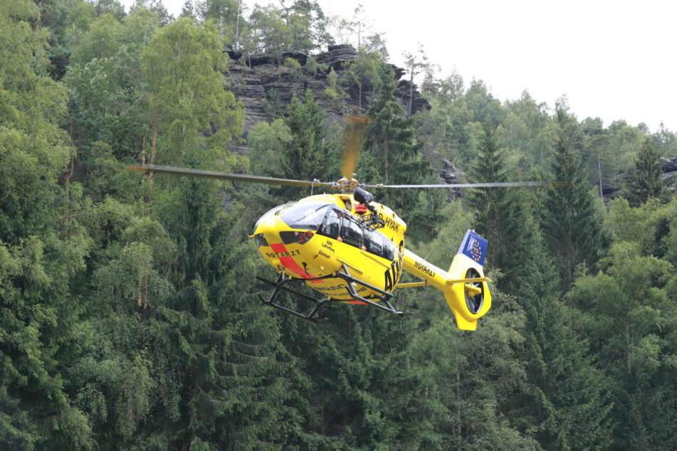 Mit dem Rettungshubschrauber kam der schwer verletzte 10-Jährige in einer Dresdner Krankenhaus. (Symbolbild)