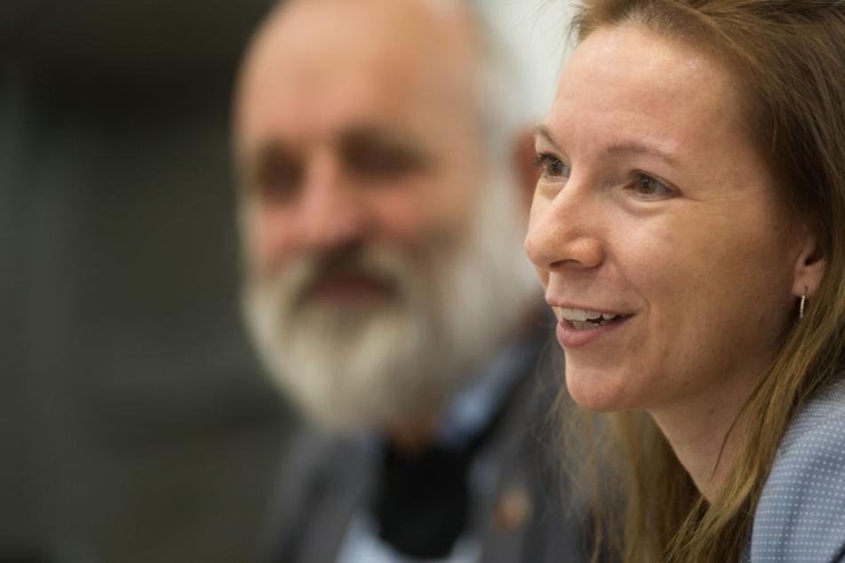 Sarah Sauermann während einer Plenarsitzung im September 2017.