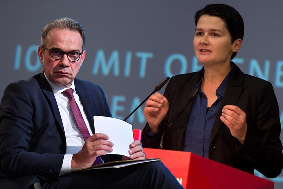 Die SPD-Politiker Georg Maier und Daniela Kolbe (v.l.) fordern, dass die SPD ostdeutsche Themen mehr in den Fokus rückt.