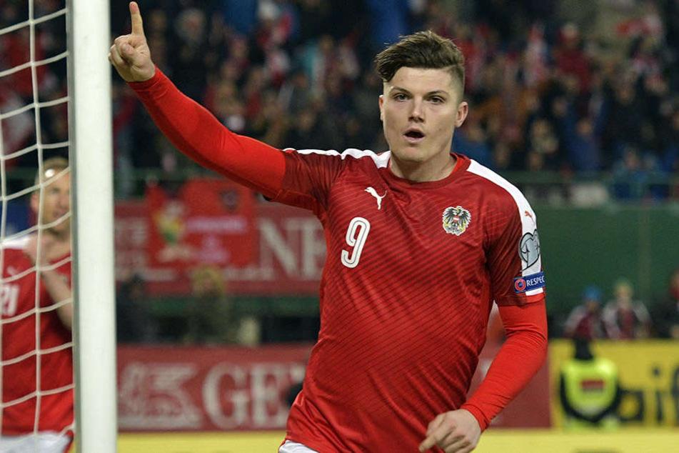 Auch Marcel Sabitzer (23) konnte sich über ein Tor für Österreich freuen.