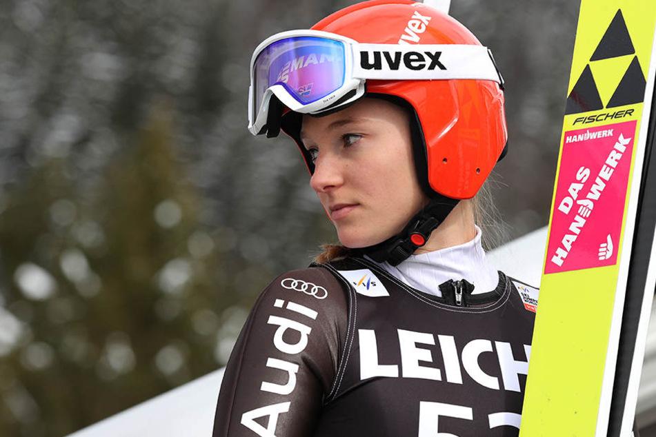 Katharina Althaus hatte am Dienstag die Qualifikation für sich entschieden.