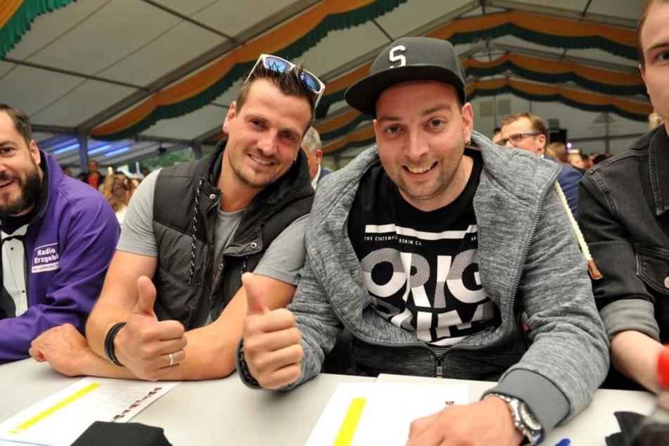 Teil der Jury: Ric (38, l.) und Rixx (33) von Stereoact. Das große Finale der  Casting-Show steigt am 26. August in Zschopau.