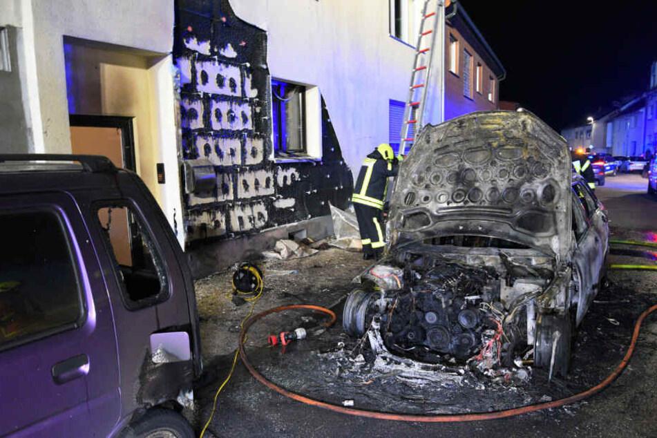 Bei dem Brand wurden drei Menschen verletzt.