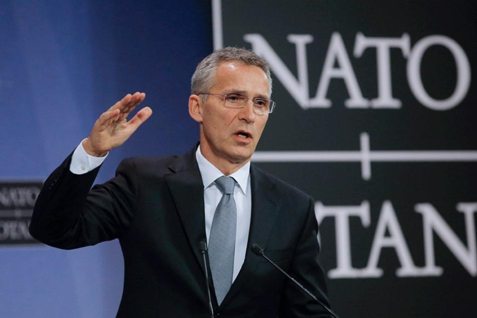Nato-Generalsekretär Jens Stoltenberg verteidigte den Aufmarsch der NATO in Osteuropa.