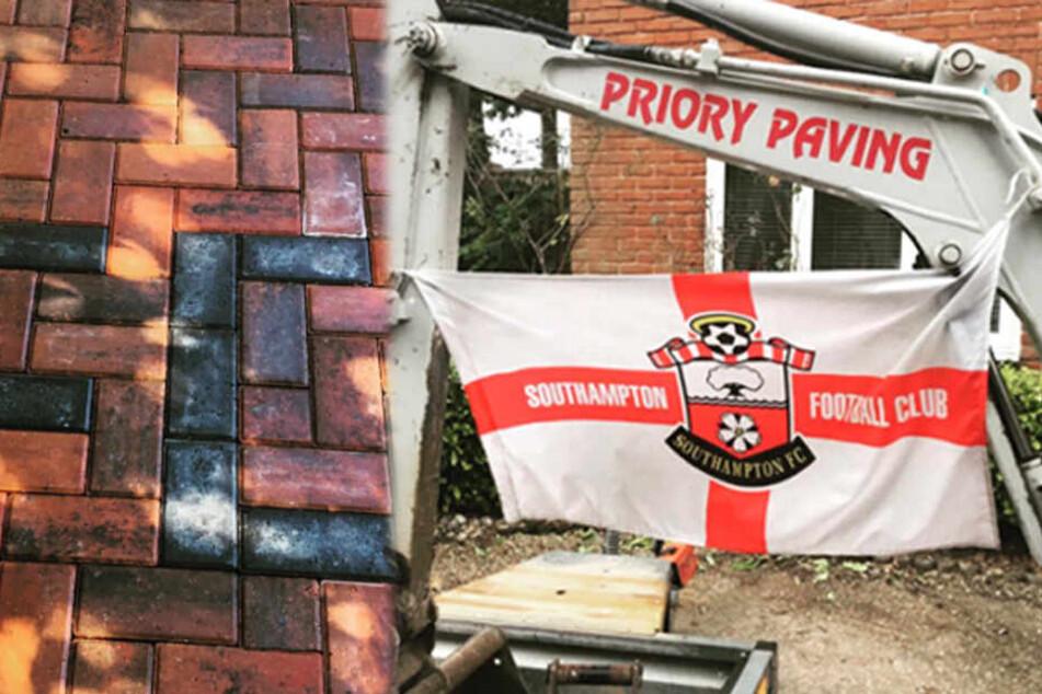 Hausbesitzer ärgert Bauarbeiter mit Fahne des Rivalen, dieser rächt sich köstlich