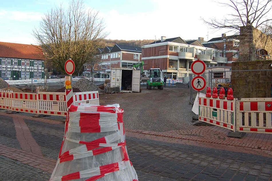 """Für zehn Wochen wird die Straße """"Am Markt"""" 2017 komplett gesperrt."""