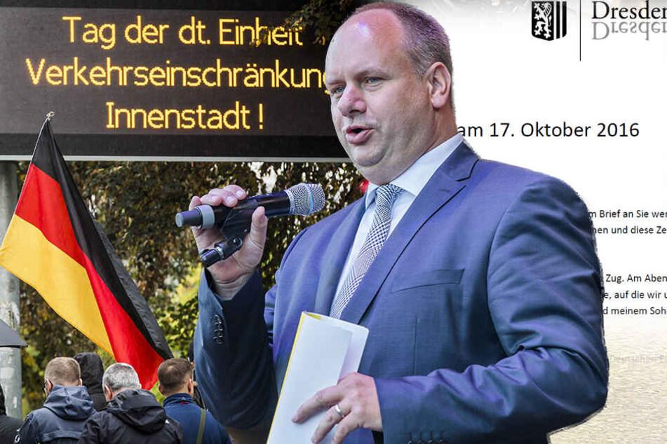 Brief an seine Dresdner: OB Hilbert zeigt endlich klare Kante
