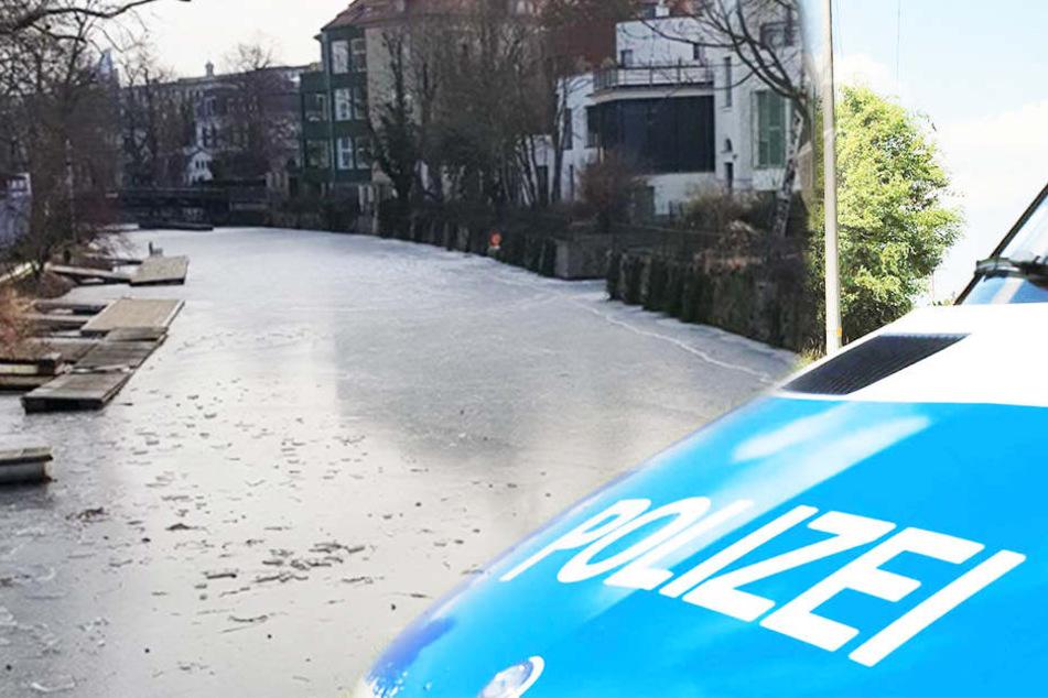 Auf dem Karl-Heine-Kanal ist am Donnerstagmittag ein Mädchen ins Eis eingebrochen.