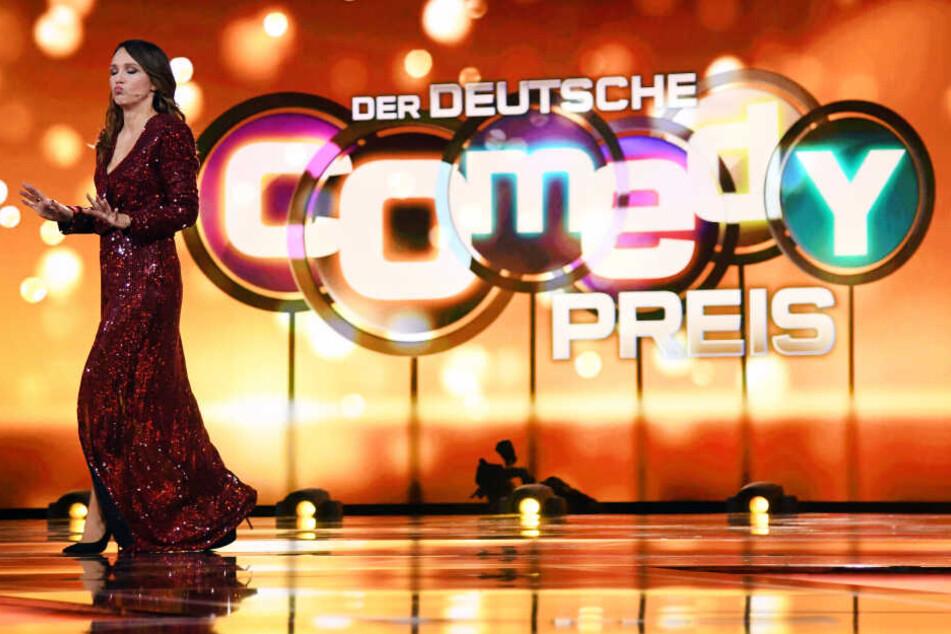 Carolin Kebekus (39) bei der Moderation des Deutschen Comedypreises.
