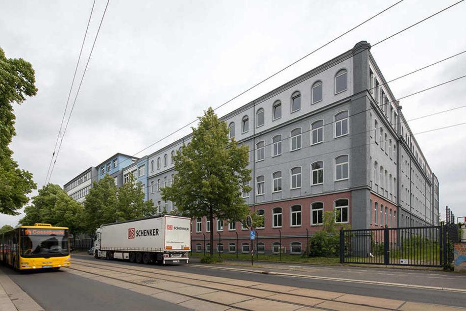 Hier soll das neue Ankerzentrum entstehen: Die Dresdner Erstaufnahme an der Hamburger Straße.