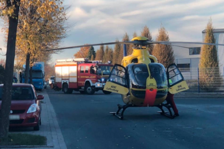 Mit einem Hubschrauber wurde der lebensgefährlich verletzte Mann in eine Klink geflogen.