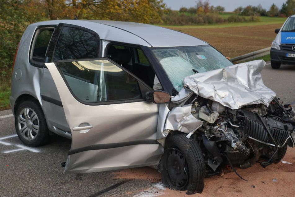 Auch der Skoda, der in dem Unfall verwickelt war