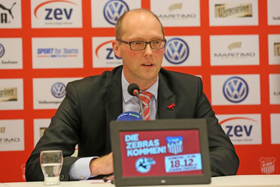Vorstandssprecher Tobias Leege war nicht bereit, mit TAG24 über die finanzielle Situation beim FSV zu sprechen.