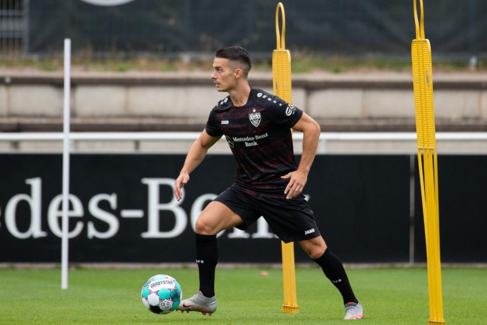 VfB-Mittelfeldspieler Erik Thommy (26) fällt mit einem Ellenbogenbruch mehrere Wochen aus.